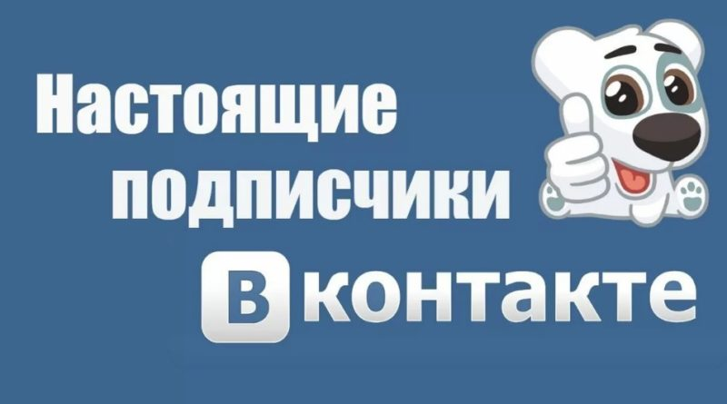 настоящие подписчики ВКонтакте в группу